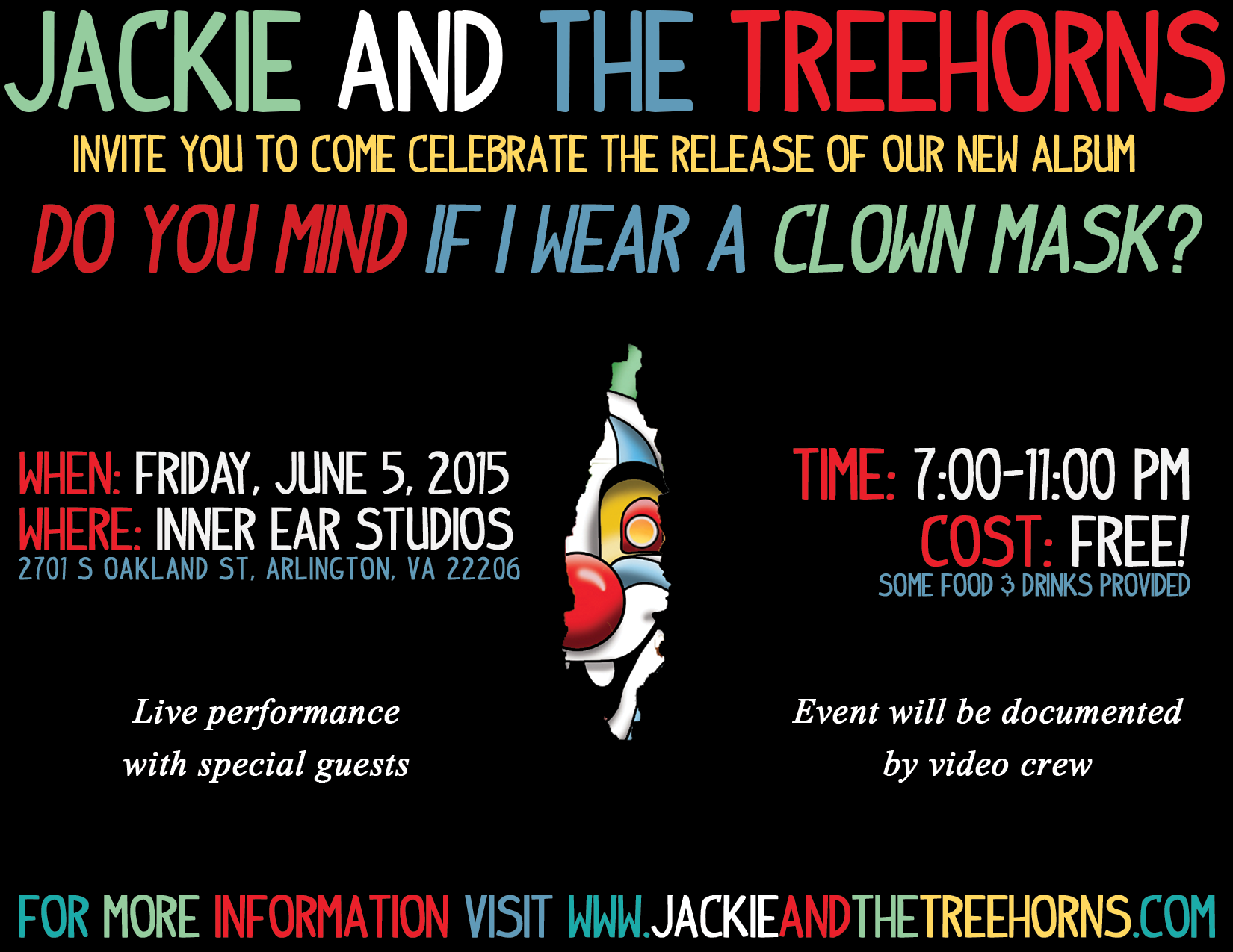 Clown Mask Release Party @ Inner Ear Studios – June 5, 2015