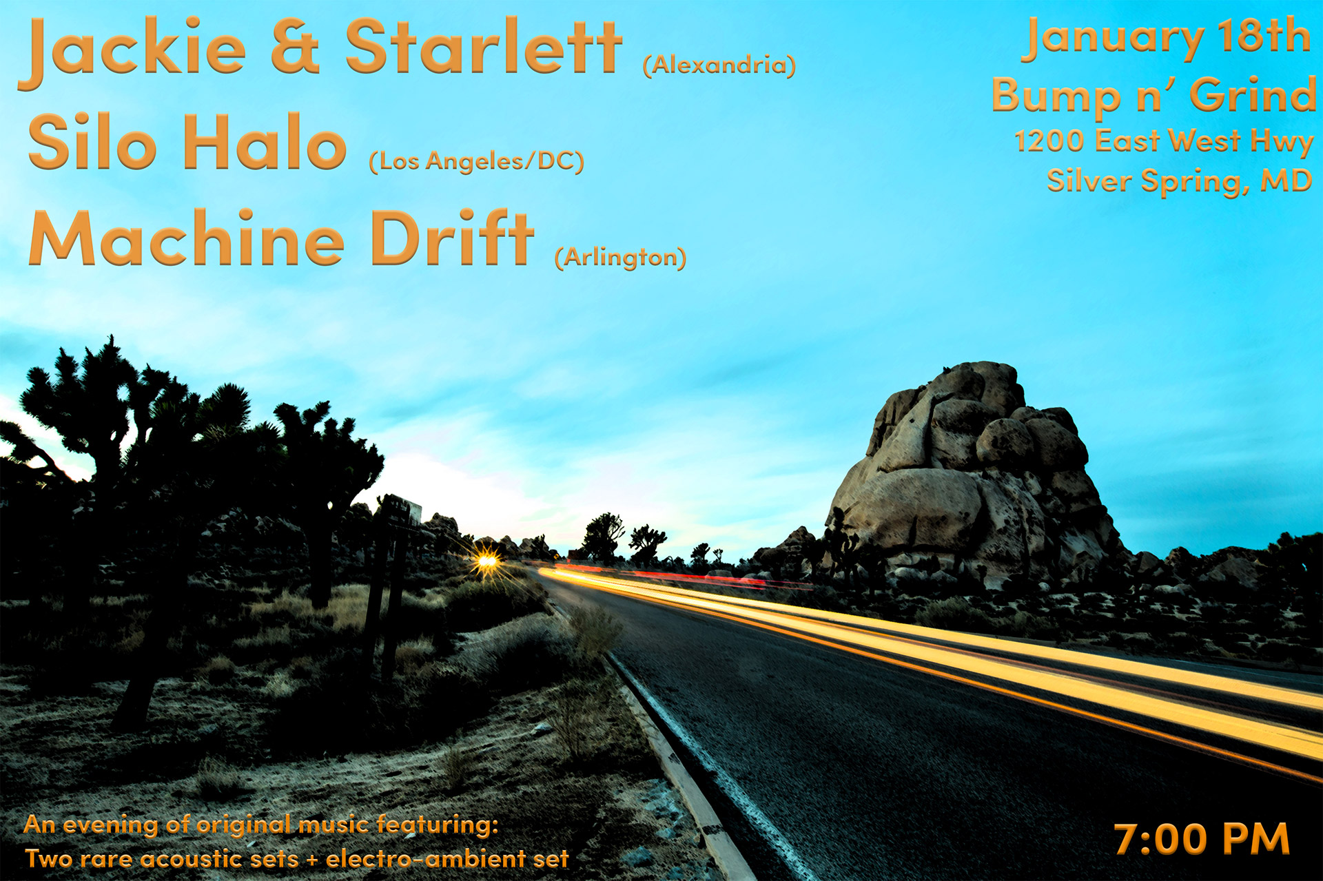 Jackie +Starlett - Silo Halo - Machine Drift - Jan 18th